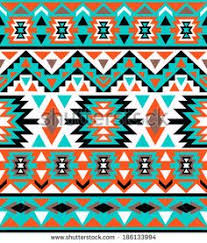 Navajo Pattern Awesome 48x48 Art Print Native American Navajo Inspired Bright
