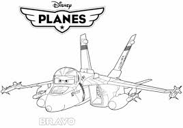 Small Picture Disney Planes Jet Fighter Bravo coloring page Free Printable