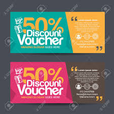 coupon design gift voucher template with colorful pattern cute gift voucher