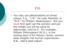 "notes on ""macbeth"" essay ppt  3 fyi"