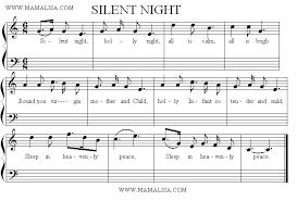 sheet music silent night silent night american childrens songs the usa mama lisas