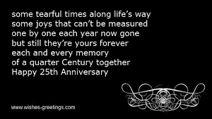 Quotes for 25th wedding anniversary poems invitation wordings