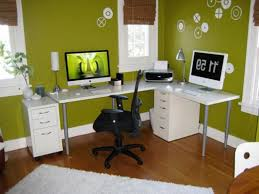 decorating a small office.  Office Full Size Of Small Home Office Interior Design Ideas With Green Wall Color  Theme And White  Decorating A