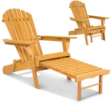 best choice s outdoor wood adirondack chair foldable w pull out ottoman patio deck furniture com