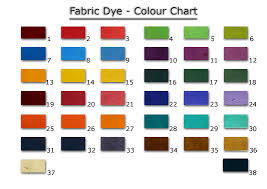 Color Chart For Clothes Fabric Dye Colour Chart
