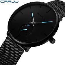 <b>CRRJU Men Watch</b> Top Brand Luxury Ultra thin Men's Watch ...