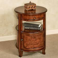 mabella round accent table walnut touch to zoom