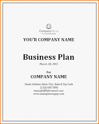 Business Plan Cover Page 60 Unique Of Business Plan Title Page Template Photograph
