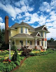 elevation of country farmhouse victorian house plan 95647 family home plans rounded