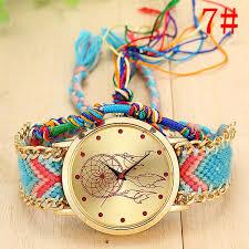 Hawaiian Dream Catcher Inspiration HAWAIIAN DREAM Native Handmade Quartz Watch Knitted Dreamcatcher