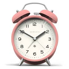 newgate charlie bell echo silent alarm clock pink image 1