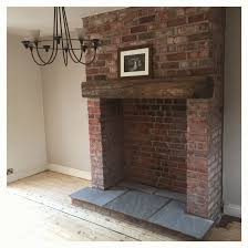 Brick Fireplace Designs Uk Popular Brick Fireplace Idea Exposed With Indian Stone