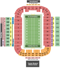 Cougar Stadium Seating Chart Sun Devil Stadium Tickets Box Office Seating Chart