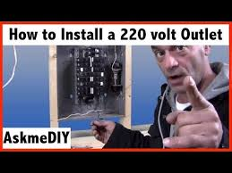 how to install a 220 volt outlet