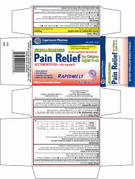 Jr Strength Acetaminophen Dosage Chart Junior Strength Pain Relief Information Side Effects
