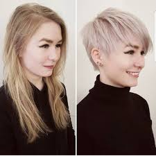 Long to shorter hair cuts. Long Hair To Short Hair Before And After Imgur