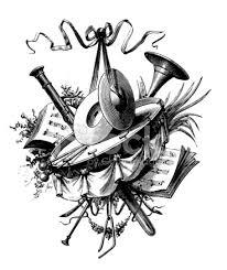 Vignette Design Music Vignette Antique Design Illustrations Stock Vector