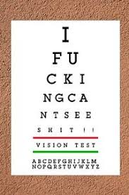 Details About Joke Eye Test Chart Rude Adult Humor Ideal Xmas Birthday Unusual Gift 1109