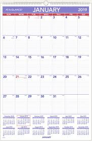 At A Glance 2019 Monthly Wall Calendar 20 X 30 Inches Xlarge