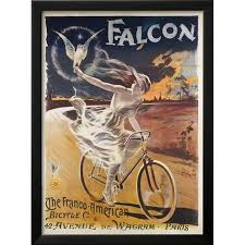 Falcon The Franco American Bicycle Co Framed Print Wall Art