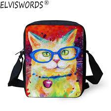 <b>ELVISWORDS Women</b> Fashion <b>Messenger</b> Bags 3D Oil Painting ...
