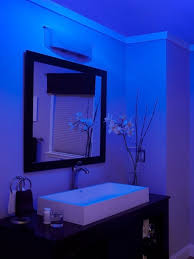 lighting in bathrooms. nutone lunaura blue glow bathroom exhaust fan ceiling light and night led uses much less energy lighting in bathrooms