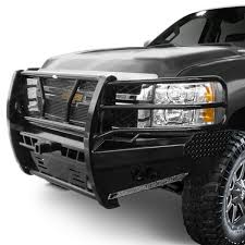 Frontier Truck Gear® - Pro Series Full Width Front HD Bumper with Brush  Guard