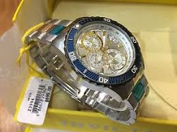 23994 invicta mens 45mm pro diver quartz silver dial two tone ss image is loading 23994 invicta mens 45mm pro diver quartz silver