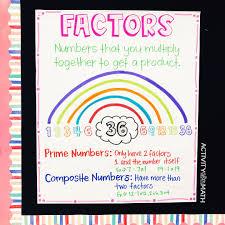 A Factor Rainbow Anchor Chart