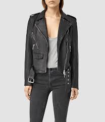 contemporary leather jacket womens black rawley biker