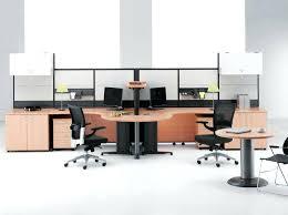 trestle office desk. Long Home Office Desk Wooden Trestle In Modern Desks With Round Table Beside
