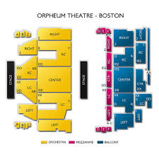 Orpheum Boston Seating Chart Orpheum Theatre Boston 2019 Seating Chart