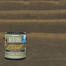 Rustoleum Driftwood Stain Rust Oleum Restore 1 Gal Semi Transparent Stain Bark With