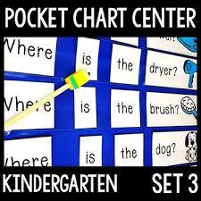 Kindergarten Pocket Chart Center Set 3 5 Sight Word Pocket Chart Activities