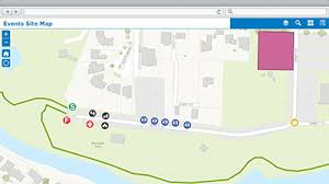 events site map is a configuration of web appbuilder for arcgis that can be used by event organizers or event coordinators to create site maps that