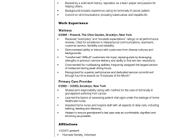 Cna Resume Experience Cna Resume No Work Experience Template