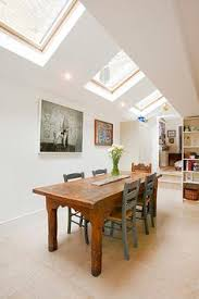 Pitched roof lighting ideas Vaulted Ceiling Victorian Side Return Extension Google Search Side Return Extension Rear Extension Extension Ideas Pinterest 106 Best Light Airy Kitchens With Velux Windows Images Roof Window