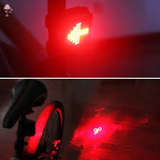 <b>Fully Intelligent Steering</b> Bicycle <b>Brake</b> Tail Light USB Charging ...