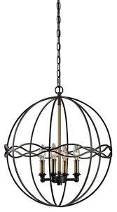 elegant bronze sphere cage pendant light chandelier hanging waves