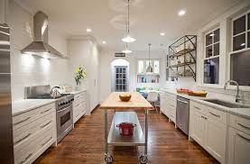 narrow kitchen island with casters
