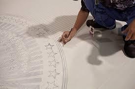 oval office rug. Oval Office Carpet: Stamp Rug