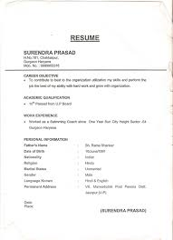 Office Boy Resume Format Sample