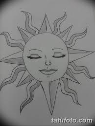 черно белый эскиз тату рисункок солнце 11032019 048 Tattoo