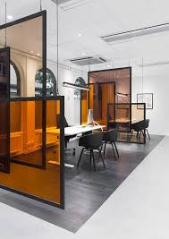 office space interior design. Separación Ambientes-вариант комнат Sparbanken Rekarne -- Use Idea As Desk Dividers, Angle Spaces Against Incoming Sunlight So The Glass Affects Their Office Space Interior Design
