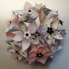 Paper Flower Bouquet Etsy Origami Paper Flower Bouquet