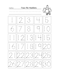 Trace Chart Free Printable Number Chart 1 30 Kindergarten Worksheets