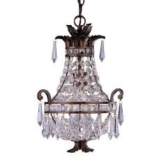 savoy house 1 1046 1 56 1 light mini chandelier in tortoise shell with clear crystal