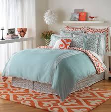 blue and orange duvet cover