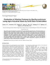 (PDF) Production of Alkaline Protease by Bacillus polymyxa using ...