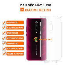Dán lưng Xiaomi Redmi K20 Pro / Redmi K30 / Redmi k30 Pro / Redmi K40 /  Redmi K40 Pro PPF dẻo trong suốt full mặt lưng